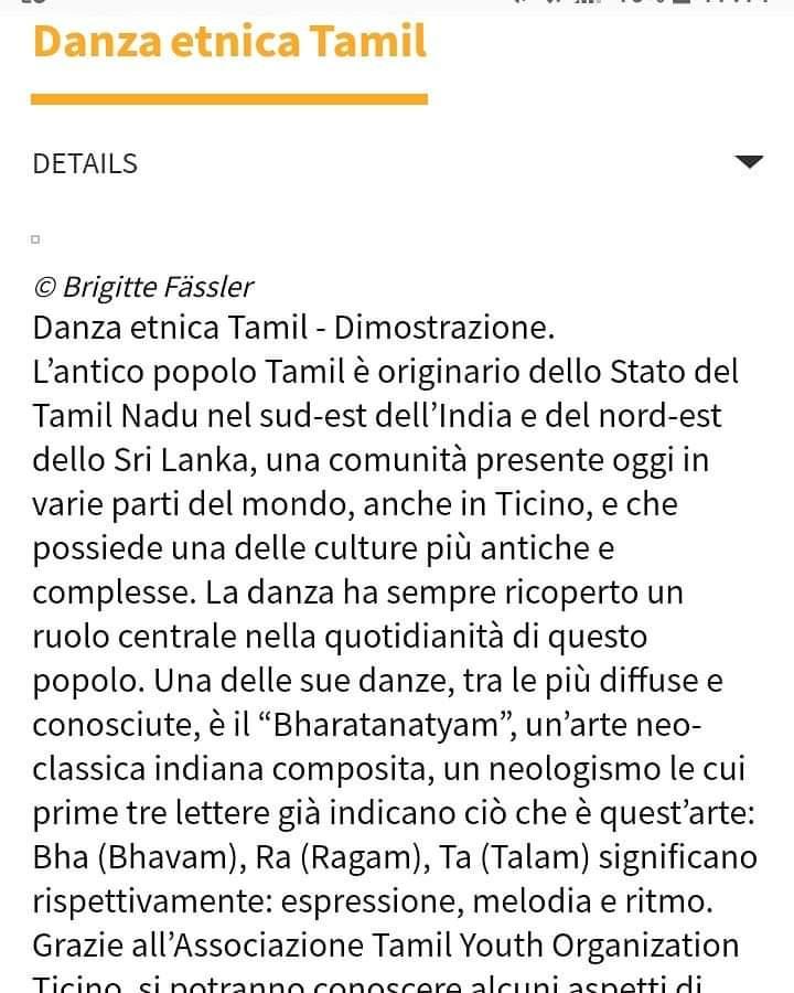 Danza Etnica Tamil