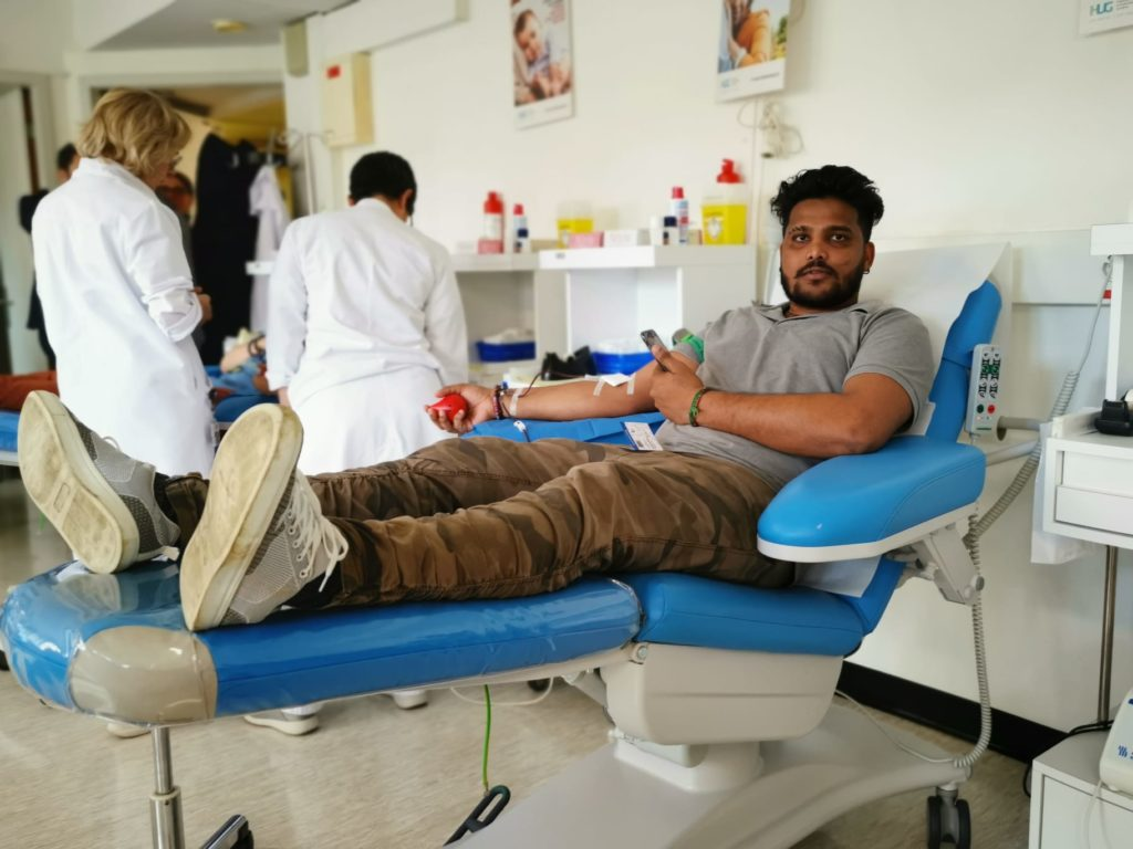 Blood donation Organized by Tyo at Geneva