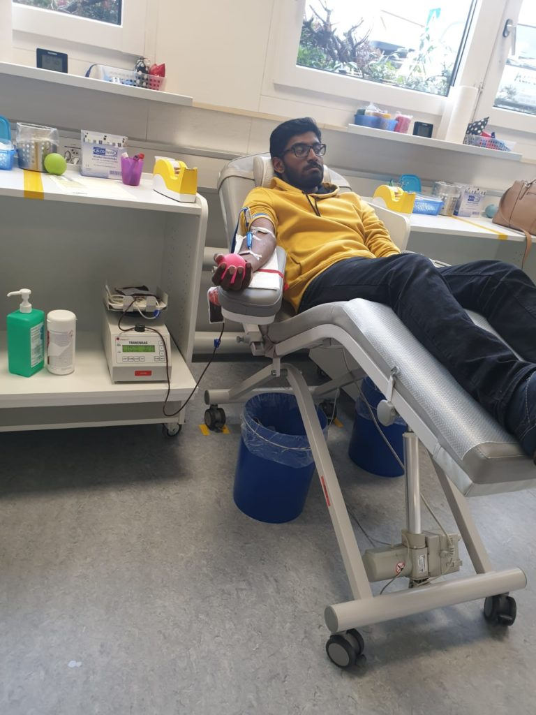 Blood donation Organized by Tyo at Bern